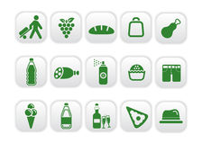 Market icons red four Royalty Free Stock Image