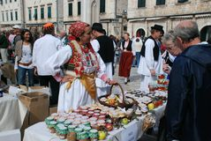 Market In Dubrovnik, Croatia Royalty Free Stock Photography