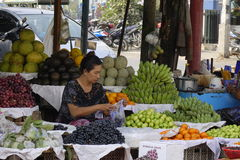 Market in Inle lake, Shan state, Myanmar Stock Images