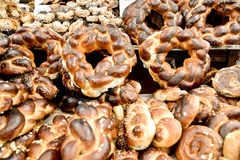Market, Jerusalem, Israel. Spices, cakes, sweets, fruits, vegetables on display in Israeli Market, Jerusalem, Israel Stock Photo