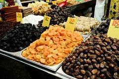 Market, Jerusalem, Israel. Spices, cakes, sweets, fruits, vegetables on display in Israeli Market, Jerusalem, Israel Royalty Free Stock Photos