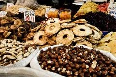 Market, Jerusalem, Israel. Spices, cakes, sweets, fruits, vegetables on display in Israeli Market, Jerusalem, Israel Stock Image