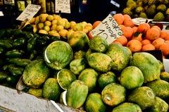 Market, Jerusalem, Israel. Spices, fruits, vegetables on display in Israeli Market, Jerusalem, Israel Royalty Free Stock Photography