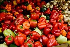 Market, Jerusalem, Israel. Spices, fruits, vegetables on display in Israeli Market, Jerusalem, Israel Stock Photography