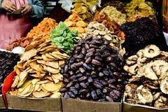 Market, Jerusalem, Israel. Spices, fruits, vegetables on display in Israeli Market, Jerusalem, Israel Royalty Free Stock Photo