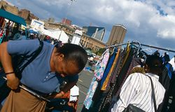 A market in Johannesburg. Stock Images