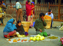 Market, Kathmandu, Nepal Royalty Free Stock Photography