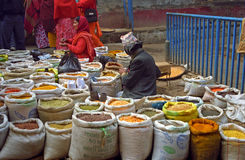 Market, Kathmandu, Nepal Stock Image