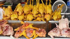 On a market at Khao Lak. Food In a market at Khao Lak in Thailand Royalty Free Stock Images