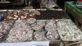 On a market at Khao Lak. Food In a market at Khao Lak in Thailand Royalty Free Stock Image