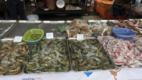 On a market at Khao Lak. Food In a market at Khao Lak in Thailand Royalty Free Stock Photos