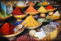 market kryddan Royaltyfri Fotografi