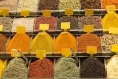 market kryddor Royaltyfri Fotografi