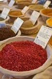 market kryddor Royaltyfria Foton