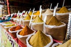 market kryddor Arkivfoto