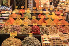 market kryddor Arkivfoton