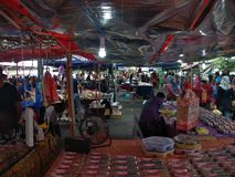 Market in Kuching, Borneo, Malaysia `competition file` royalty free stock images