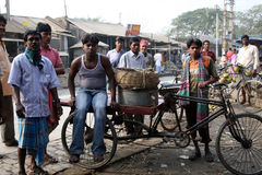 Market in Kumrokhali, West Bengal, India Royalty Free Stock Image