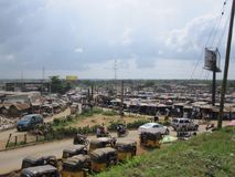 Market in Lagos, Nigeria. Streetlife in Africa Stock Photography