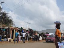 Market in Lagos, Nigeria royalty free stock images