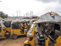 Market in Lagos, Nigeria stock image