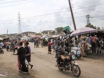 Market in Lagos, Nigeria Stock Photography