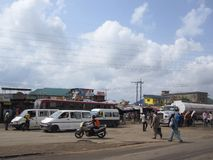 Market in Lagos, Nigeria Royalty Free Stock Photos