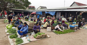 Daily market in Laos Stock Photos
