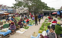Daily market in Laos Royalty Free Stock Images