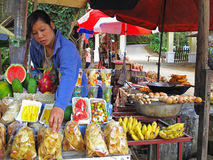 Market in Laos Stock Photo