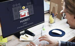 Market Launch Startup New Business Concept Stock Images