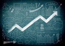 Market. Leadership statistics sales economics economy failure Stock Photography
