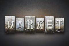 Market Letterpress Stock Image