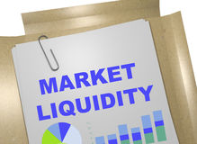 Market Liquidity concept Stock Photo