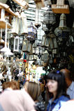 Market a lot of old lamps Royalty Free Stock Photos