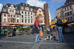 Market in Mainz Royalty Free Stock Photography