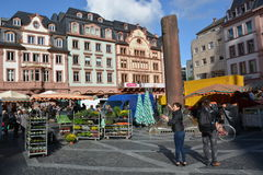 Market in Mainz Royalty Free Stock Images
