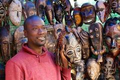 Market man with masks Stock Image