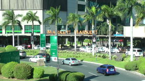 Market! Market! Mall that has themed retail zones, fruit and flowers market, and regional food and hawker's area and provides one' stock footage