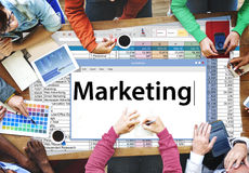 Market Marketing Advertisement Commercial Consumer Concept royalty free stock image