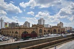 Market municipal in Sao Paulo city. Sao Paulo, Brazil - March 21, 2016: Municipal Market Mercado Municipal in Sao Paulo. Its a huge and bustling market with Stock Photography