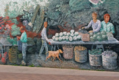 Market Mural Royalty Free Stock Images