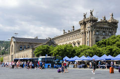 Market near Aduana Building in Barcelona Stock Images