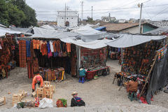Market near the Church of Santo Tomas at Chichicastenango. On Guatemala Royalty Free Stock Photos