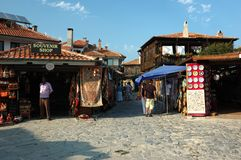 Market at Nesebar island,Bulgaria,popular landmark Royalty Free Stock Image