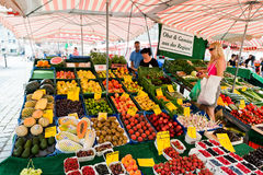 Market in Nuremberg on a beautiful sunday Royalty Free Stock Image