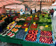 Market in Nuremberg on a beautiful sunday Royalty Free Stock Photography