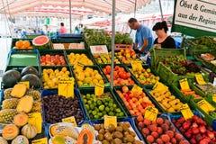 Market in Nuremberg on a beautiful sunday Stock Photos