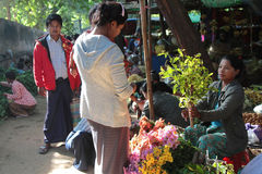 Market of Nyaung U, Myanmar Stock Photography