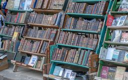 The market of old books In Havana stock images